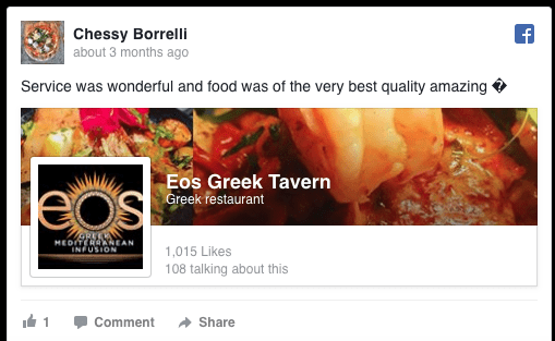 Chessy Borrelli Facbook review