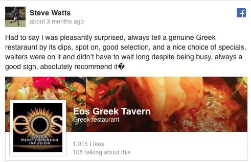 Steve Watts Facebook Review