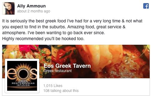 Ally Ammoun Facebook Review